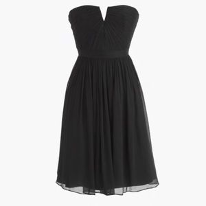 J.Crew Strapless Silk Chiffon Dress